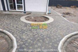 Укладка тротуарной плитки креатив в БУЧЕ