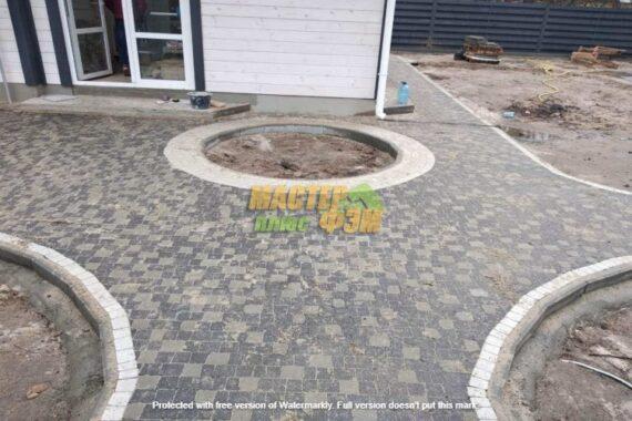 Укладка тротуарной плитки креативв Буче