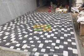 Укладка тротуарной плитки старый город в ГОРЕНКЕ