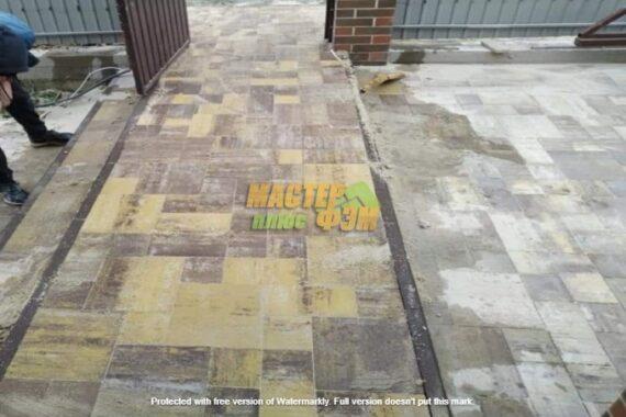 укладка тротуарной плитки Лайнстоун