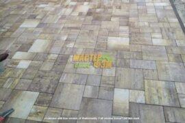 Укладка тротуарной плитки Лайнстоун в К.М. МЕЖРЕЧЬЕ